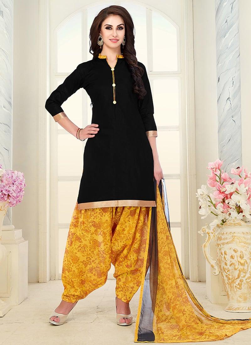 Buy Black Plain Salwar Suit 470e259ae