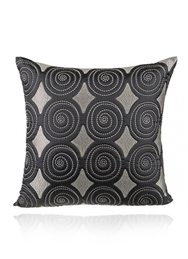 Black PolySilk Cushion Cover
