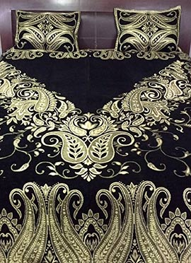 Black Pure Cotton Bed Sheet