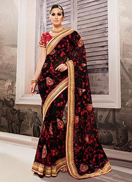 Black Pure Net Saree