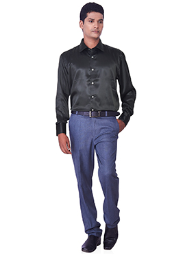 Black Pure Silk Classic Shirt