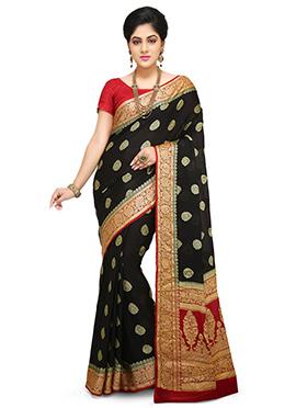 Black Pure Benarasi Silk Saree