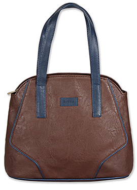 Black Purseus Leather Tote Bag