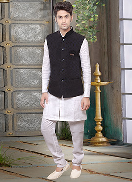 Black Rayon Nehru Jacket