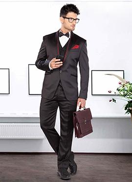 Black Satin Lapel Style Suit