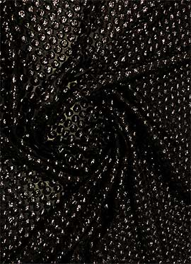Black Sequins Embroidered Georgette Fabric