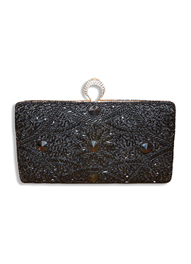 Black Silk Clutch