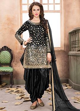 Black Taffeta Salwar Suit