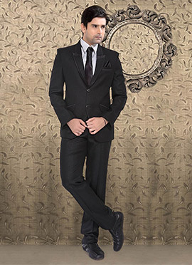 Black Terry Rayon Suit