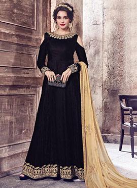 Black Velvet Anarkali Suit