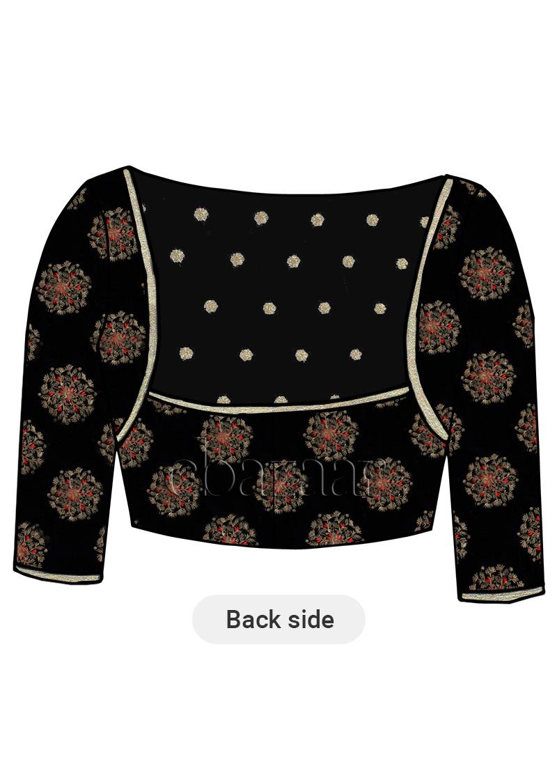 Shop Black Velvet Blouse Made To Measure Dress For Women In All Sizes Blbs1806746