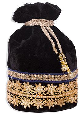 Black Velvet Potli Bag