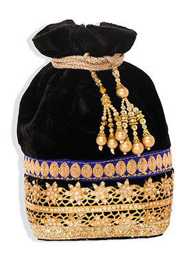 Black Velvet Potli Bag