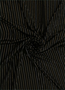 Black Zari Work Satin Fabric