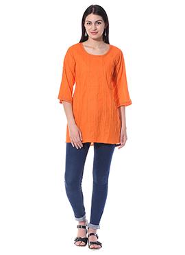 Blended Cotton Orange Top