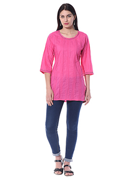 Blended Cotton Pink Top