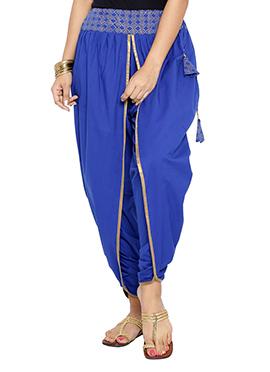 Blue 9rasa Hand Block Printed Dhoti Pant