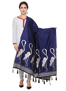 Blue Art Benarasi Silk Dupatta
