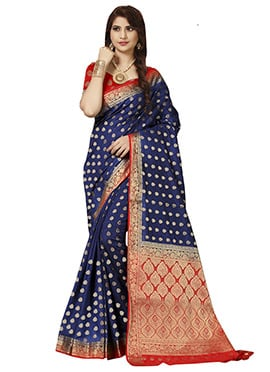 Blue Art Benarasi Silk Saree