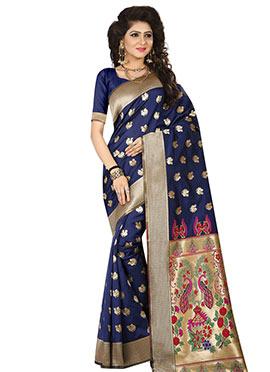 Blue Art Benarasi Silk Saree