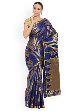 Blue Art Kancheepuram Silk Saree