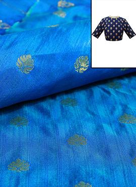 Blue Art Silk Blouse