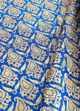 Blue Art Silk Brocade Blouse