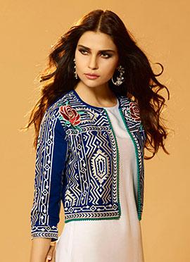 Blue Art Silk Jacket