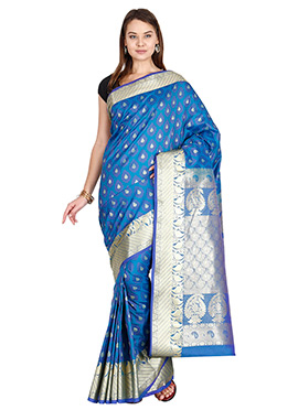 Blue Art Kancheepuram Silk Saree