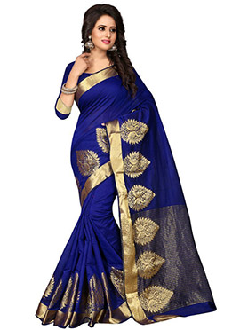 Blue Art tussar Silk Saree