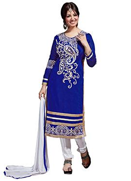 Blue Ayesha Takia Straight Suit