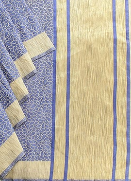 Blue Benarasi Art Silk Saree