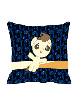 Blue Bow Angel Polyester Cushion Cover