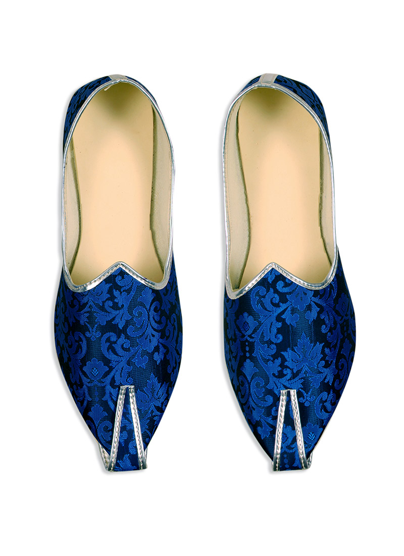 Ae Dil Hai Mushkil Blue Brocade Mojris
