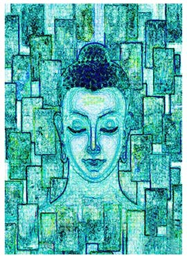 Blue Buddha Canvas