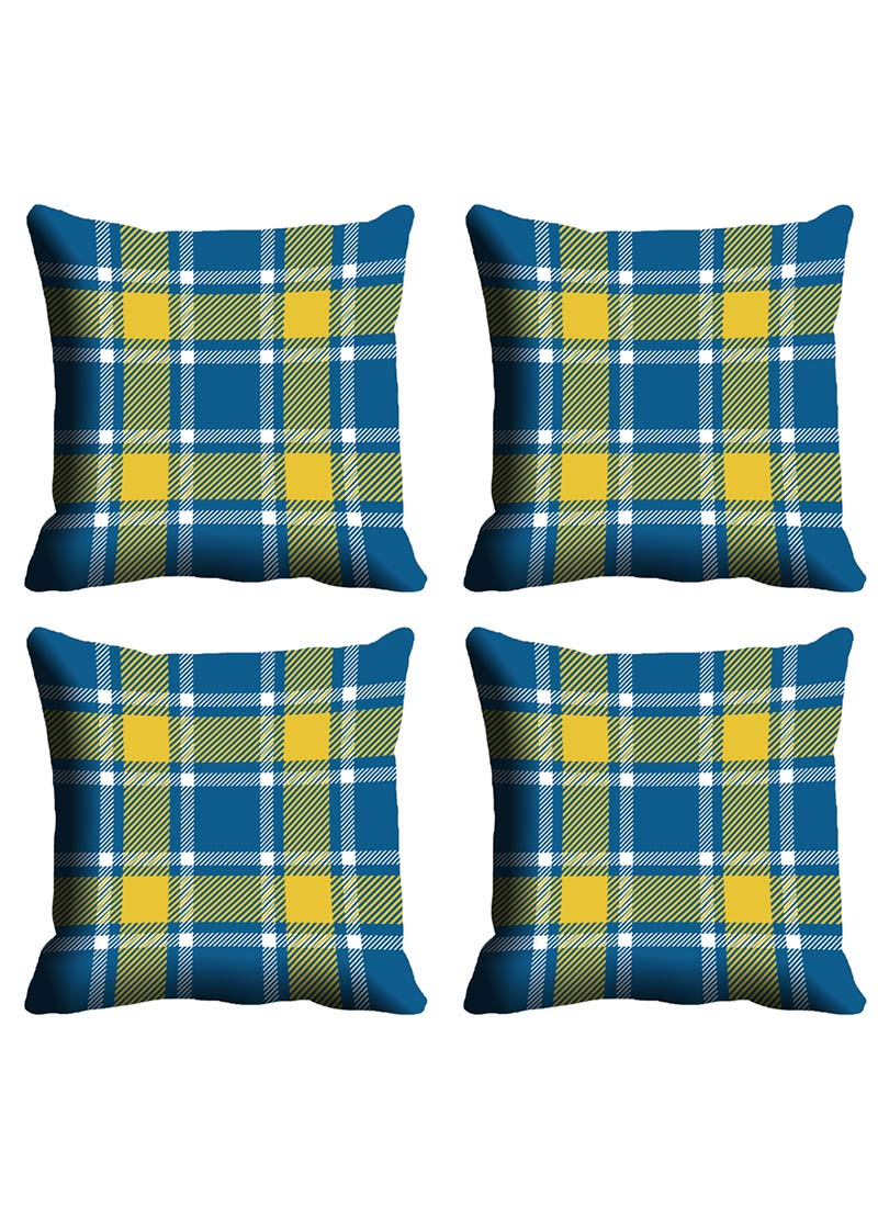 buy blue check cushion cover cushion covers online. Black Bedroom Furniture Sets. Home Design Ideas