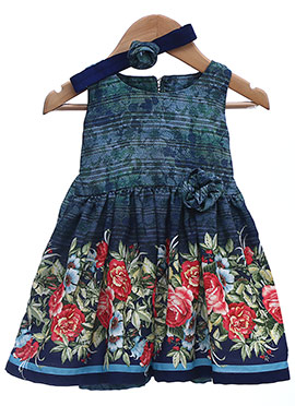 Blue Chiffon Kids Dress