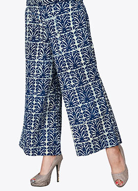 Blue Cotton Culottes