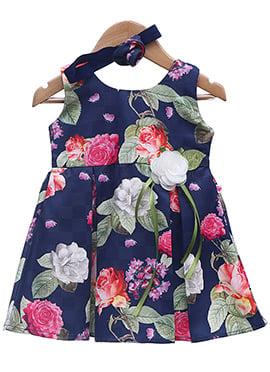 Blue Cotton Kids Dress