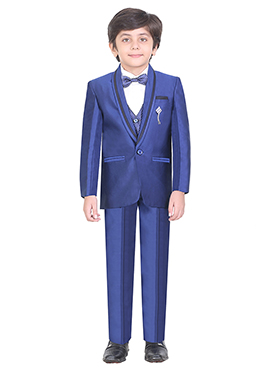 Blue Cotton Kids Suit