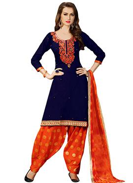 Blue Cotton Salwar Suit