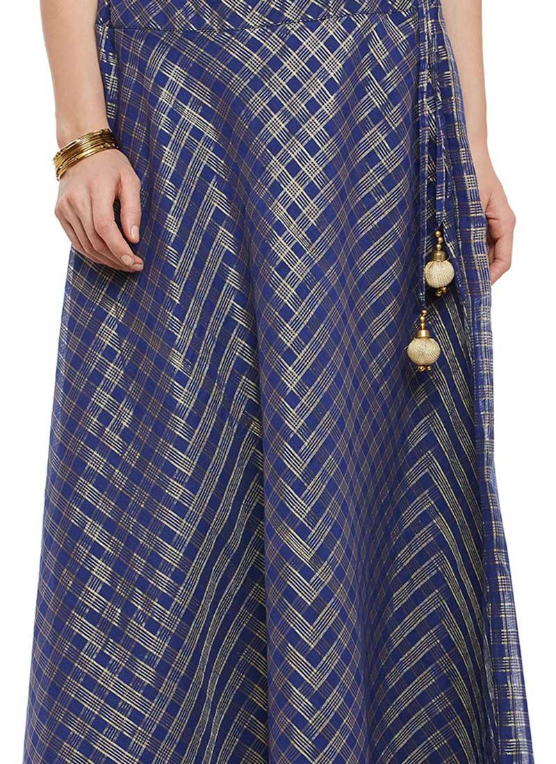 Blue Cotton Skirt 23