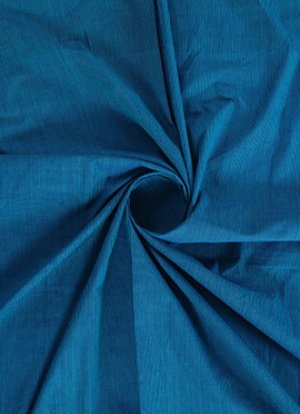 Blue Cotton Woven Fabric