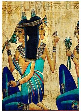 Blue Egyptian Canvas