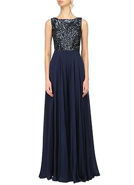 Blue Georgette Anarkali Gown
