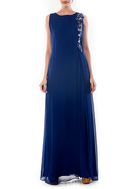 Blue Georgette Dress