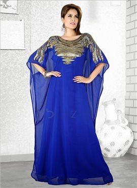 Blue Georgette Farasha Fustan