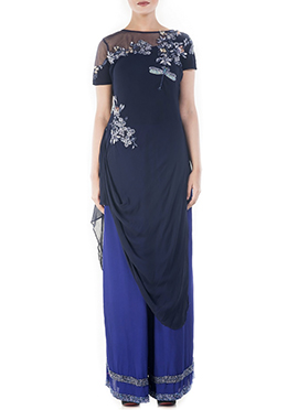 Blue Georgette Palazzo Set