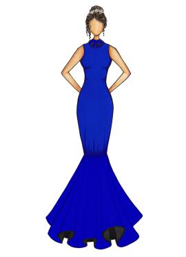 Blue Iris Mermaid Gown