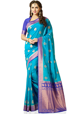 Blue Kancheepuram Silk Saree